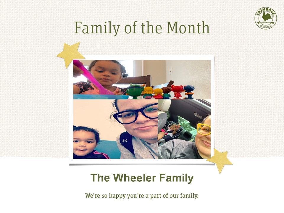 family of the month pink blue yellow green orange mother daughter preston meadow