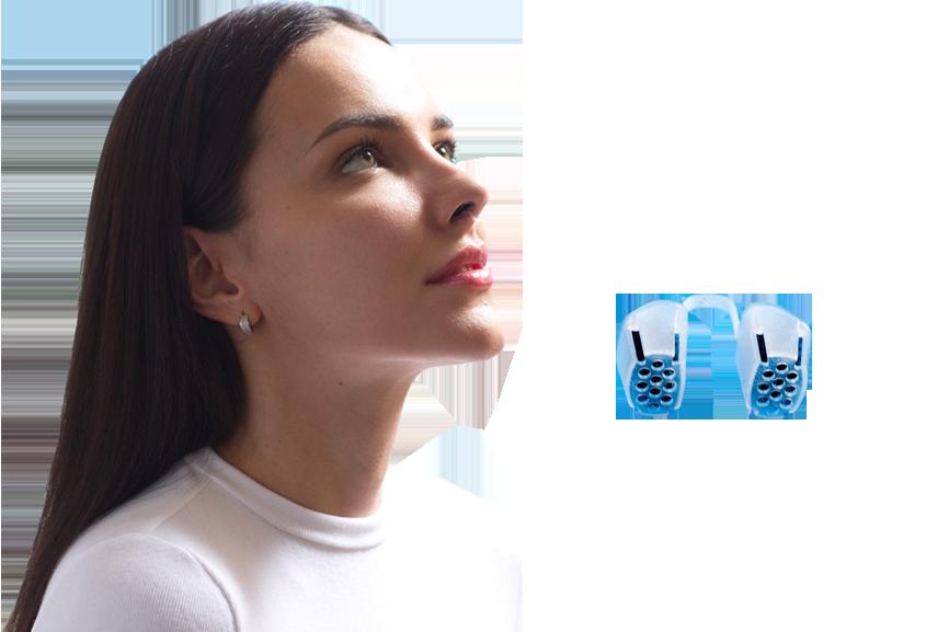 Respur filtre respiratoire pour le nez porté par une femme