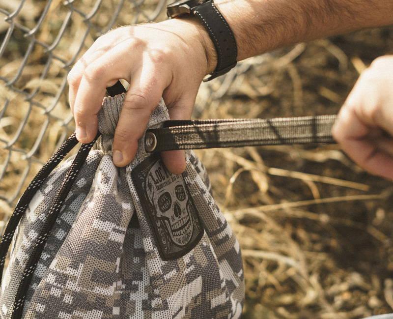 Badass anti-theft drawstring backpack