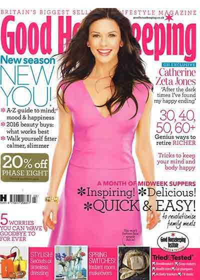 Good Housekeeping cover with Catherine Zeta Jones - VENeffect wins award