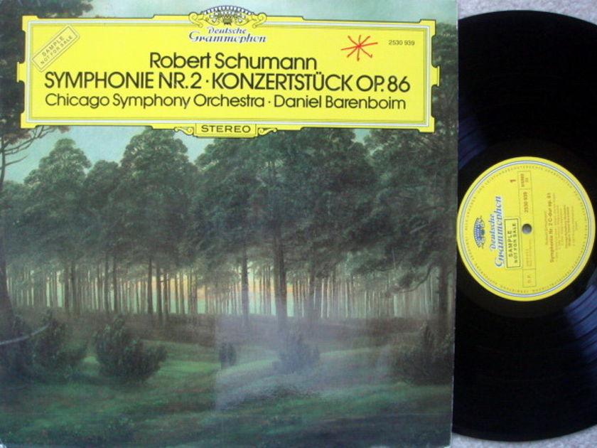 DG / DANIEL BARENBOIM-CSO, - Schumann Symphony No.2, NM, Promo Copy!
