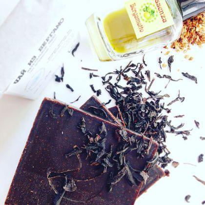 """Натуральное мыло """"Чай из Бергамо"""""""