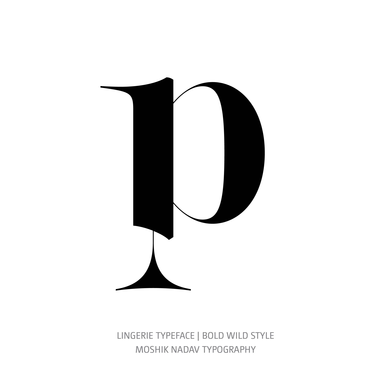 Lingerie Typeface Bold Wild p