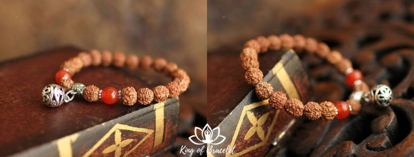Bracelet Tibétain en Rudraksha - King of Bracelet