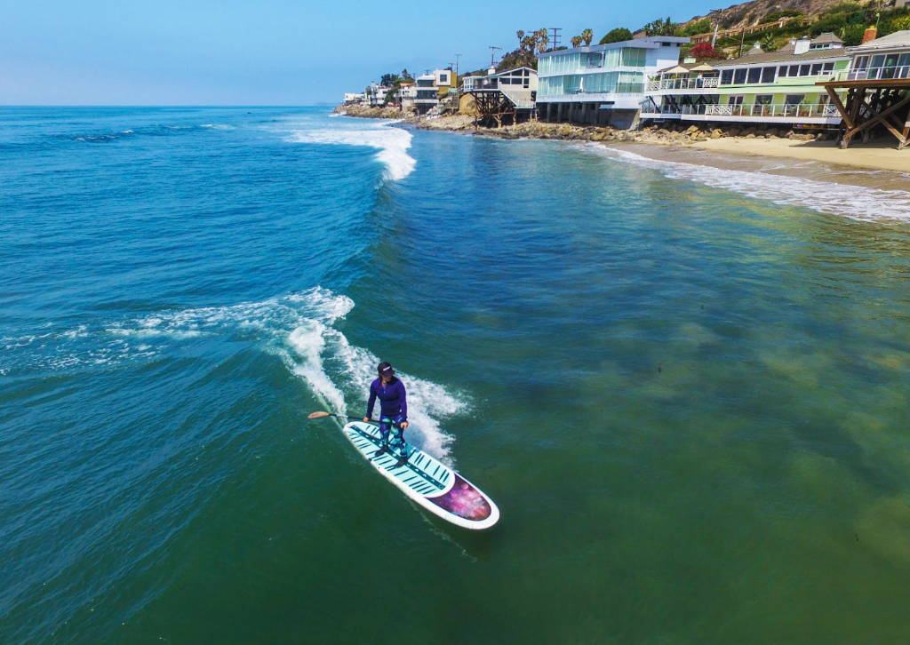 This is the very best yoga stand up paddle board.Moon Mist in Malibu surfing sup style