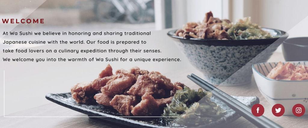 Wa-Sushi (Landing Page)