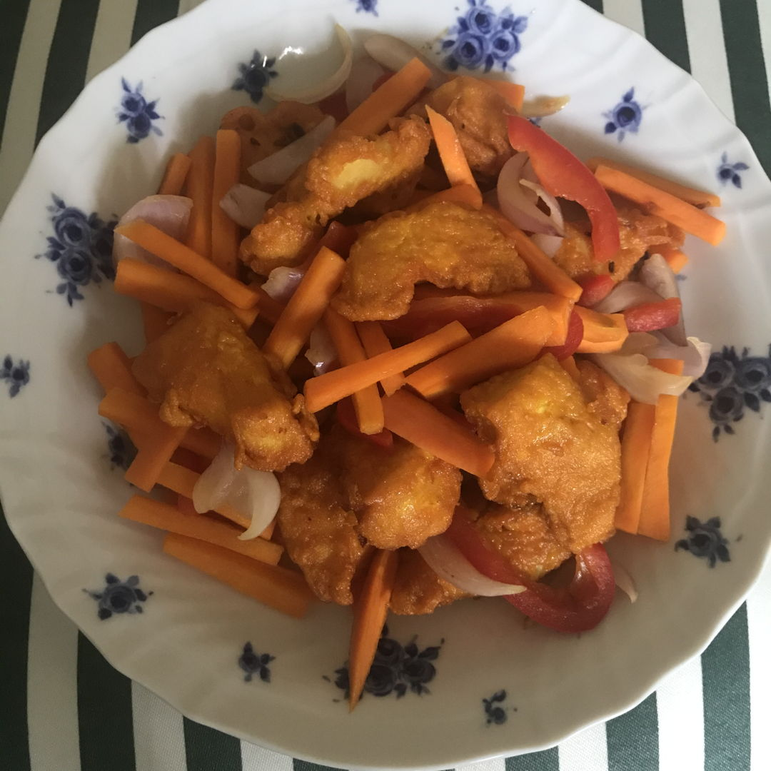 Turmeric chicken for lunch 👍🏻😁