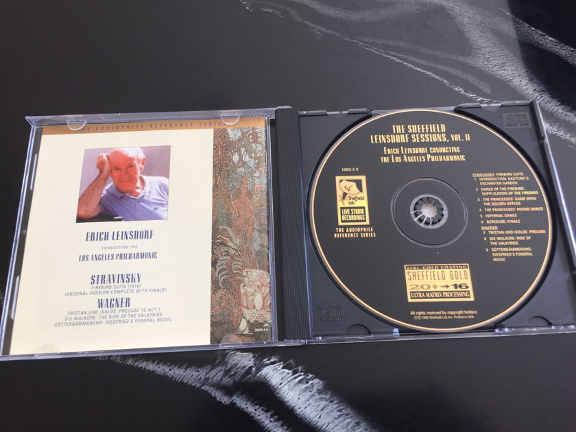 Stravinsky/Wagner -Erich Leinsdorf sessions - Vol 2 Sheffield lab 24K gold cd Los Angeles Philharmonic  free shipping