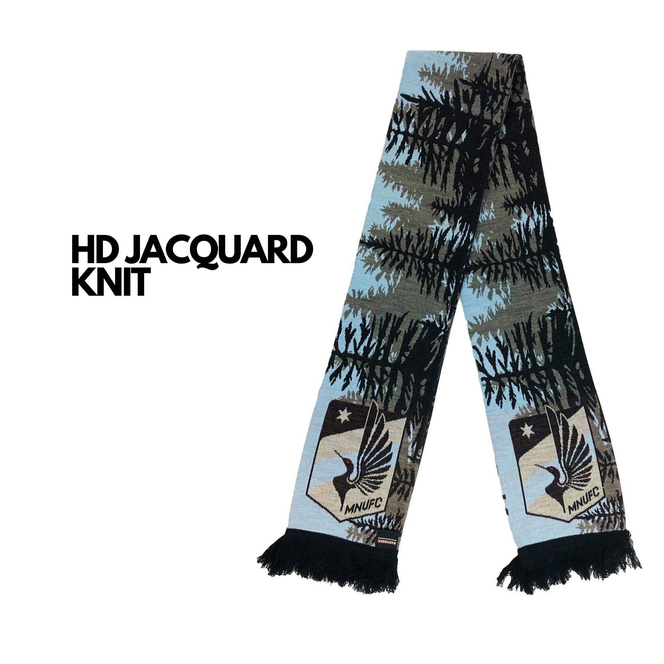 hd jacquard knit scarf