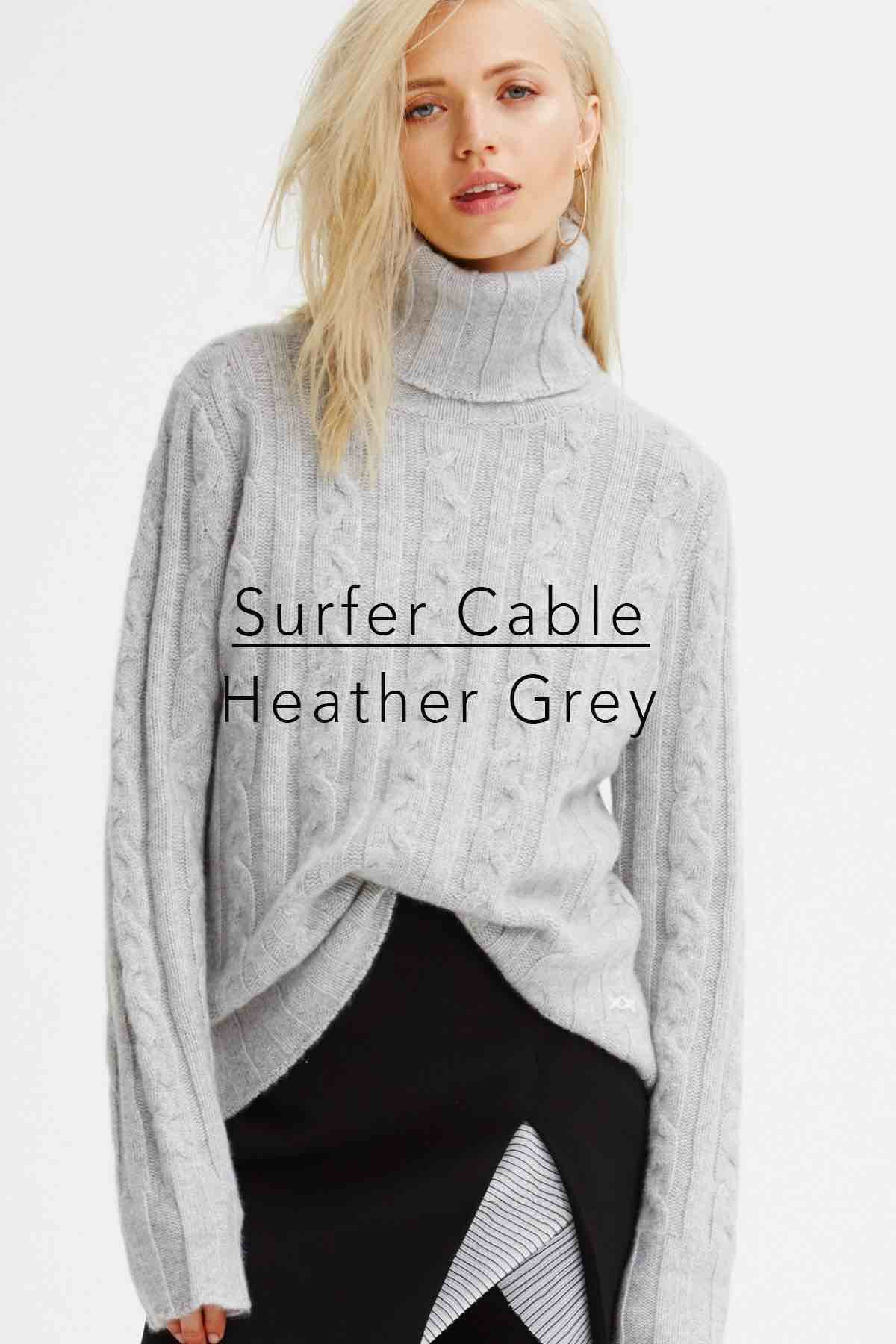 Surfer Cable Heather Grey