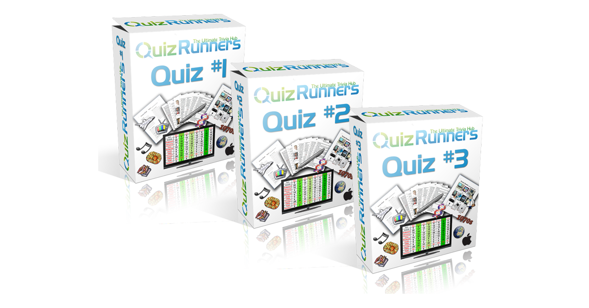Quizrunners 3-Pack of trivia