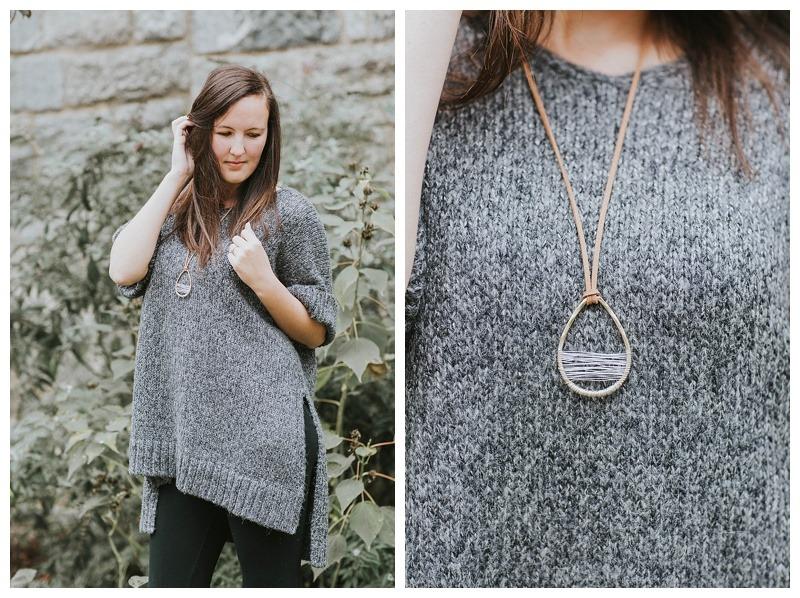 cozy-sweater-gray sweater-boho fashion-fall fashion
