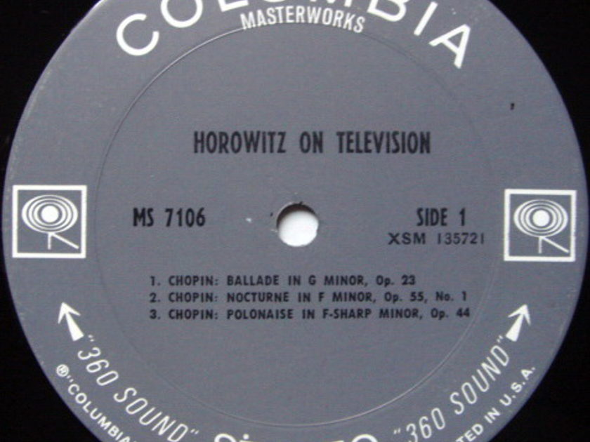 Columbia 2-EYE / VLADIMIR  - HOROWITZ on Television, MINT!
