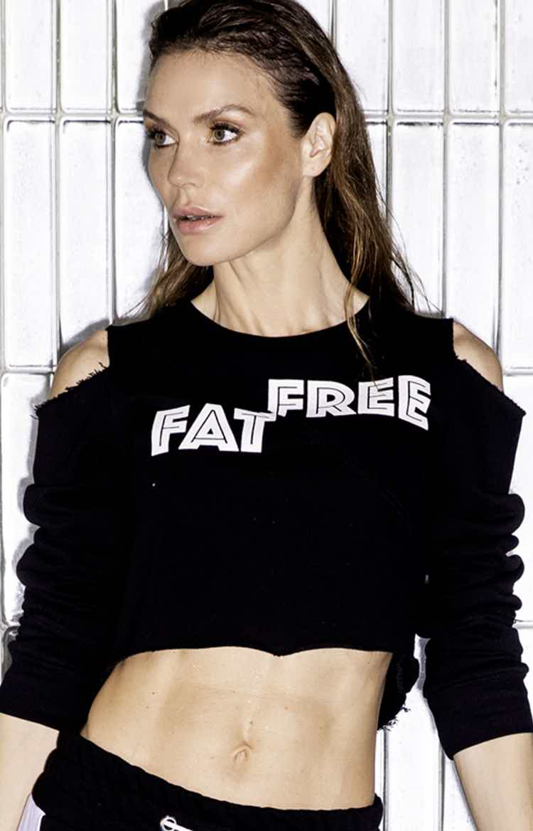 Fat Free Black Short sweatshirt