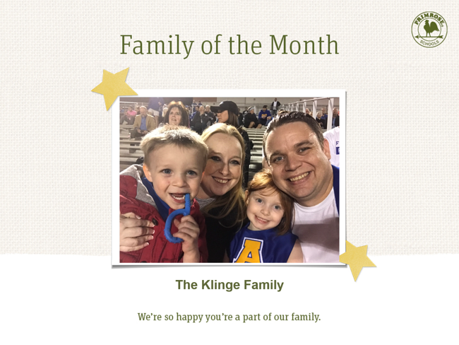 Klinge Family of the Month May 2019