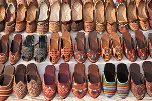 Visit the world famous camel leather product market with a local
