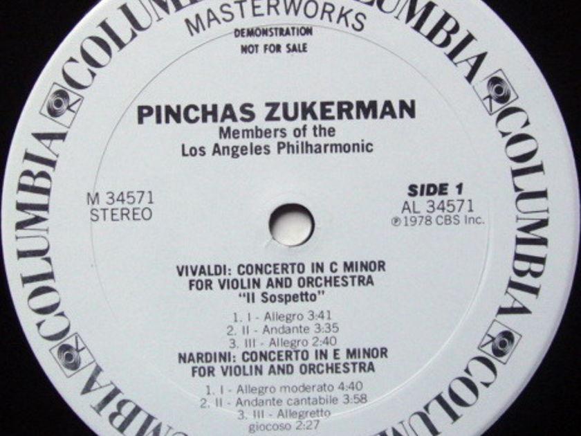 CBS / ZUKERMAN, - Baroque Violin Conertos, MINT, White Promo Copy!