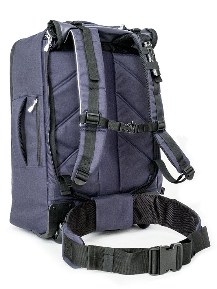 Vles go bag in the backpack configuration