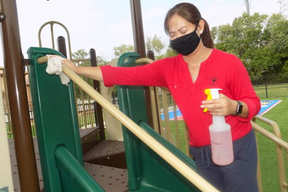 childcare, clean, disinfect