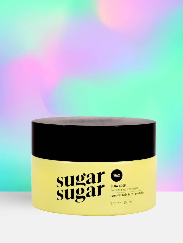 Sugar Sugar Wax Glow Goop hair remover and exfoliant  product
