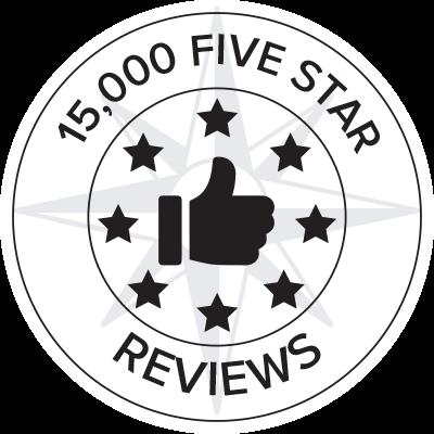 15,000 Five Star Reviews