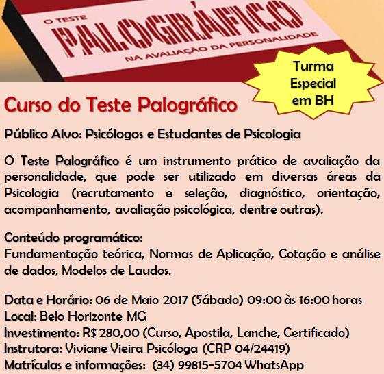 Curso do Teste Palográfico