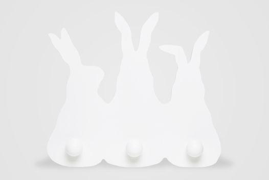 Вешалка Зайчики белая