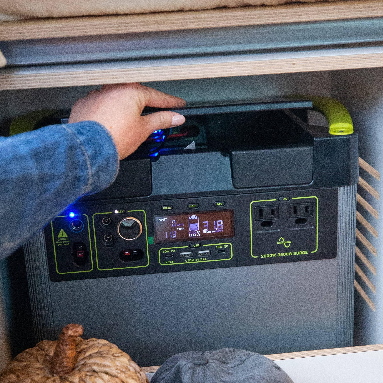The Bivy - Sprinter 144 / ProMaster 136 Conversion Van Goal Zero Power Center Battery Setup - The Vansmith