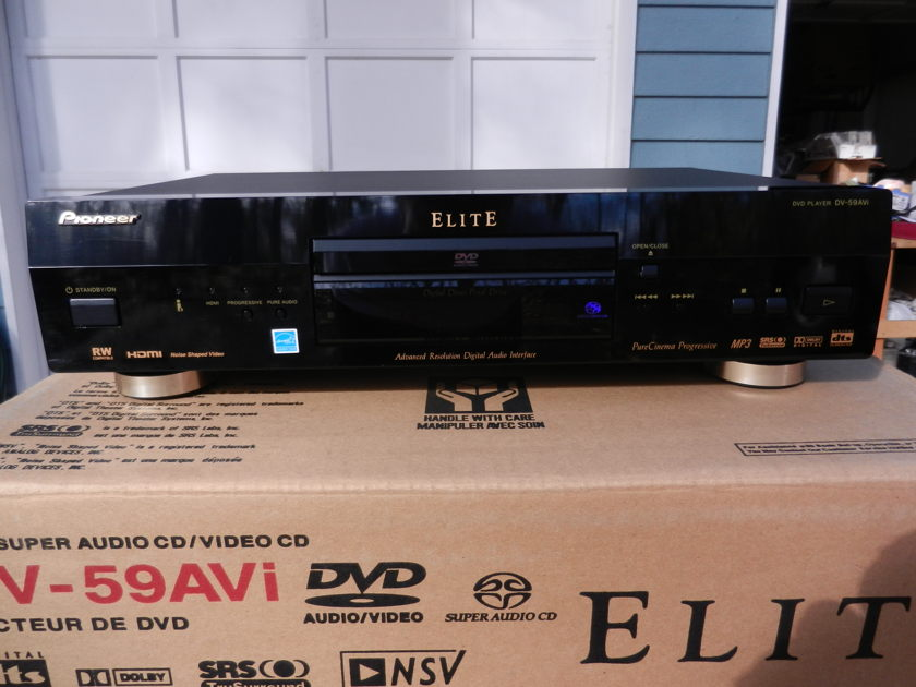 Pioneer Elite DV-59AVi DVD/SACD/CD Flagship Player Top of the Line