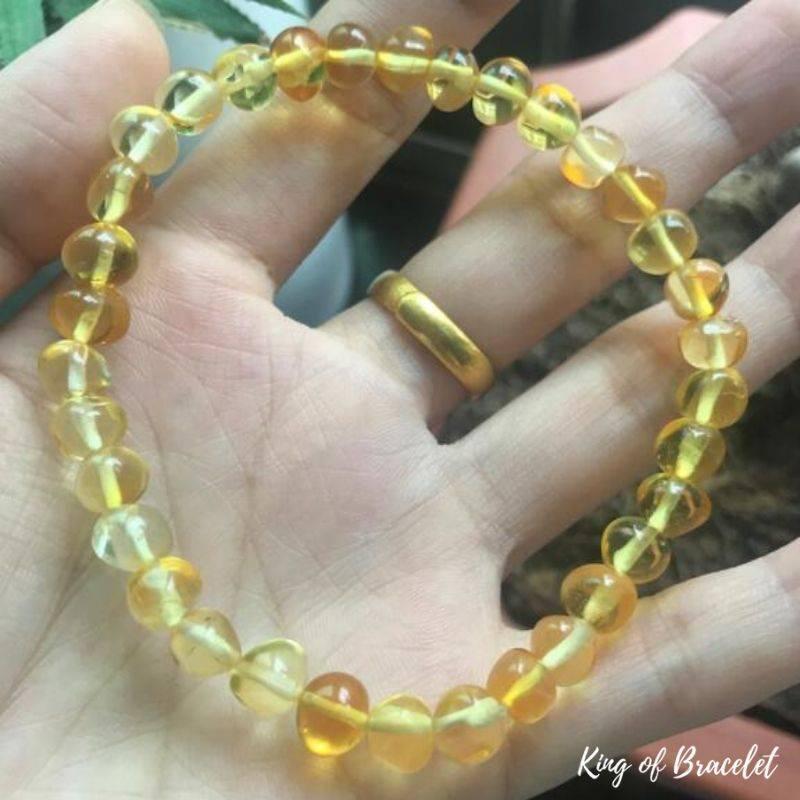 Bracelet de Lithothérapie en Ambre - King of Bracelet