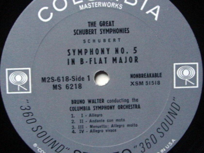 Columbia 2-EYE / BRUNO WALTER, - Schubert Symphony No.5 & No.8 Unfinished,  MINT!