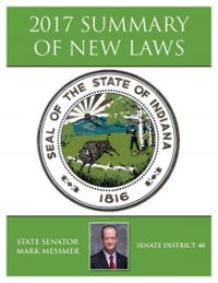 2017 Summary of New Laws - Sen. Messmer