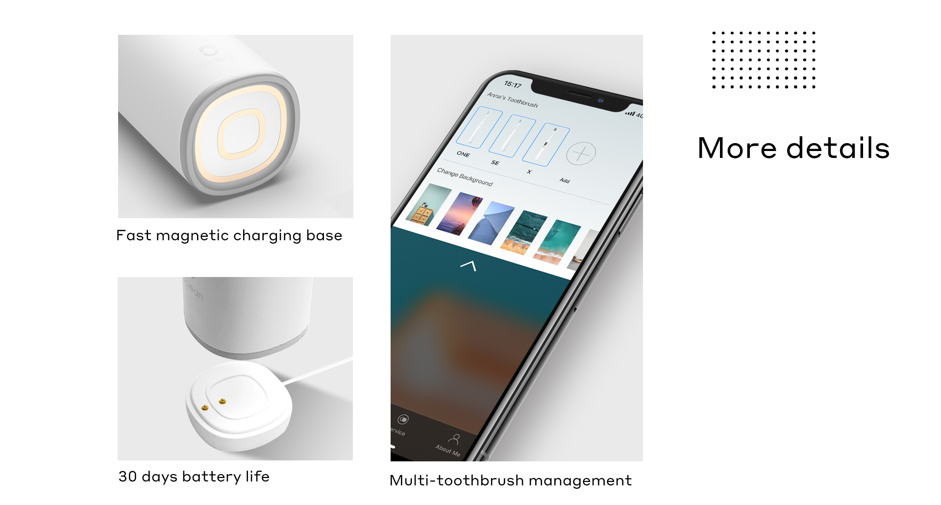 fast magnetic charging base 30 days battery life