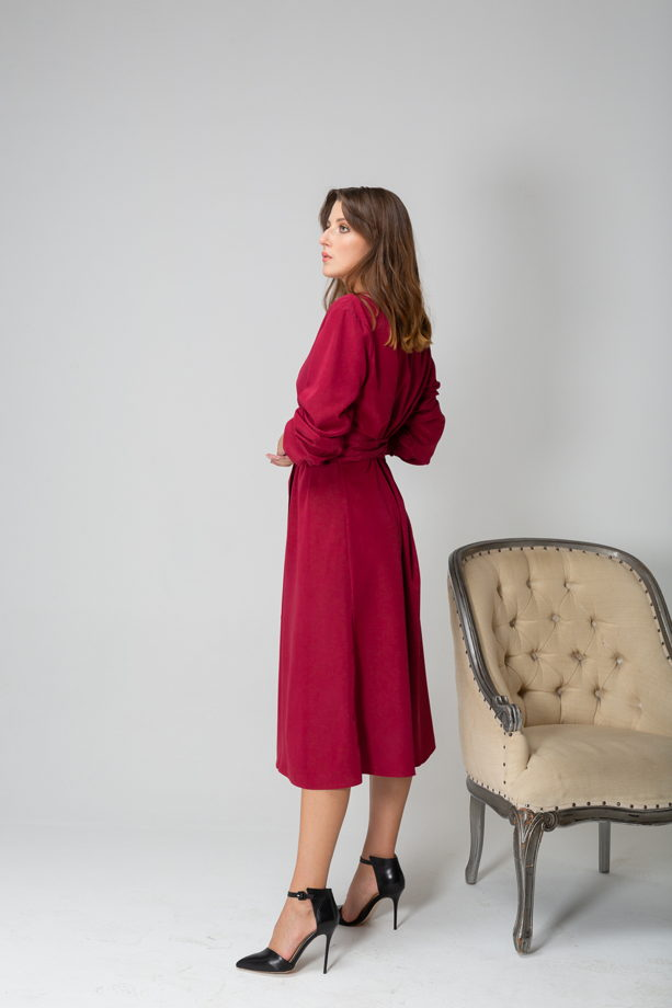 Платье с втачным поясом арт. 3183005