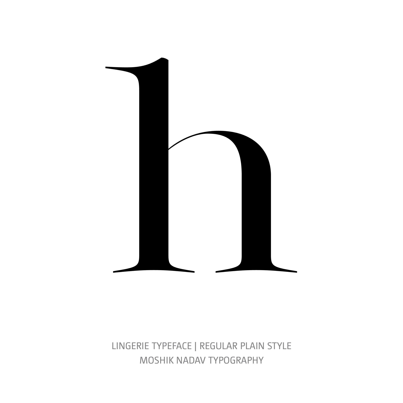 Lingerie Typeface Regular Plain h