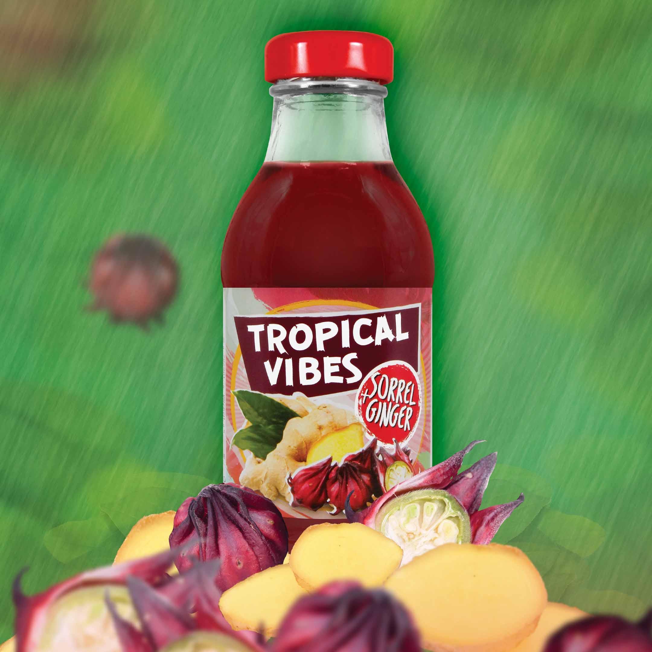 tropical vibes sorrel ginger drink