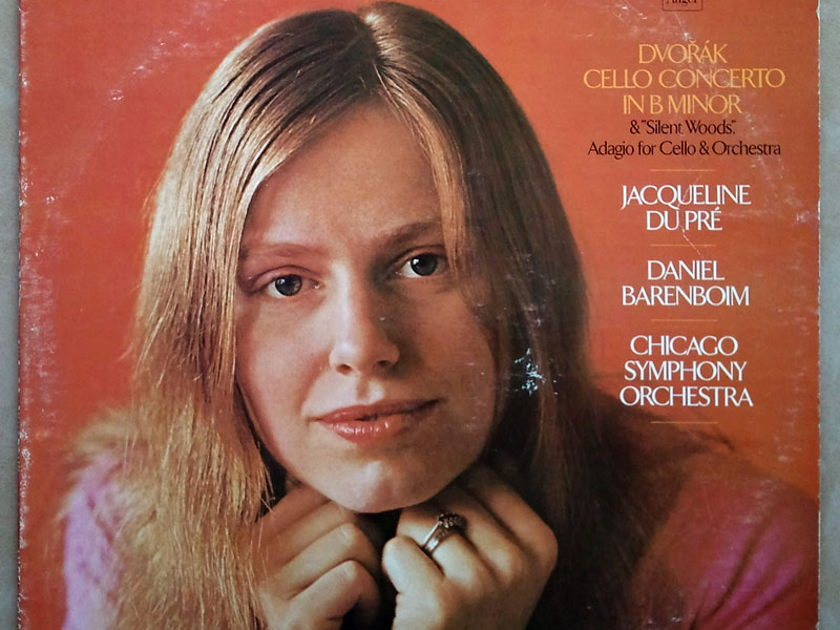 ANGEL | JACQUELINE DU PRE/BARENBOIM/DVORAK - Cello Concerto, Silent Woods, Adagio for Cello and Orchestra / VG+