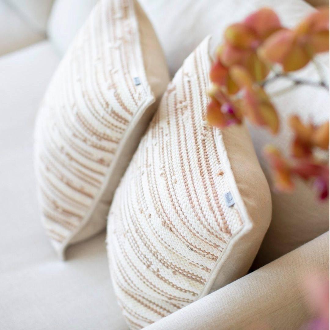 tonle zero waste beige pillow cases