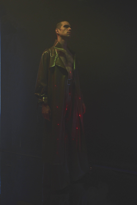 arthur avellano fetish latex trench coat flared trousers h lorenzo unisex ss198