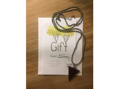 Lucky Tree Gift Card + Necklace