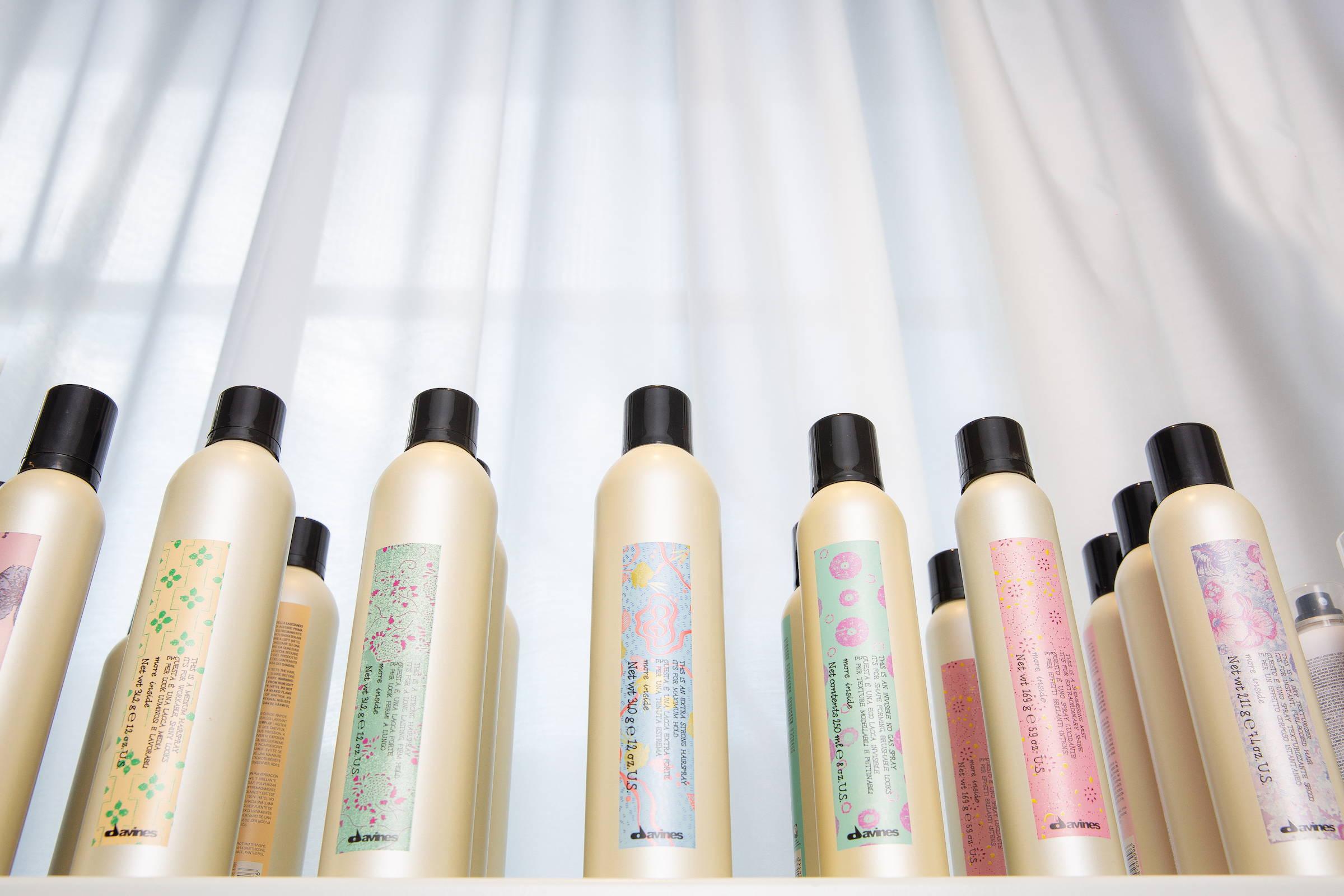 Davines styling product aerosol how to shag hair