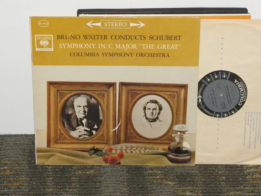 "Bruno Walter/Columbia Symphony Orchestra - Schubert Symphony in C maj. ""The Great"" Columbia MS 6219 6 EYE pressing"