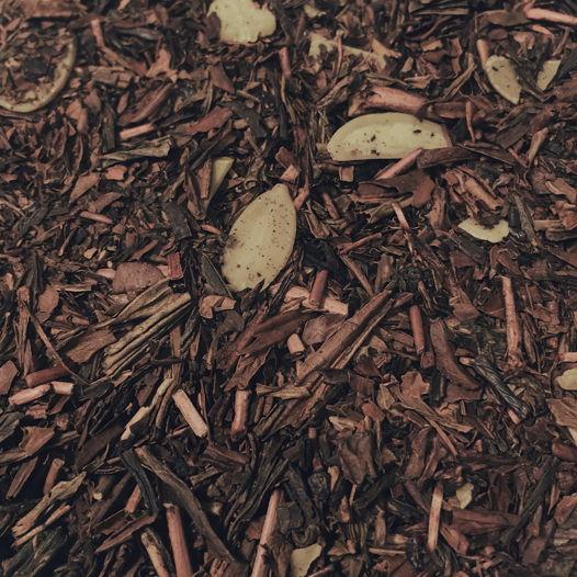 Ходзича с миндалём (обжаренный японский зеленый чай)
