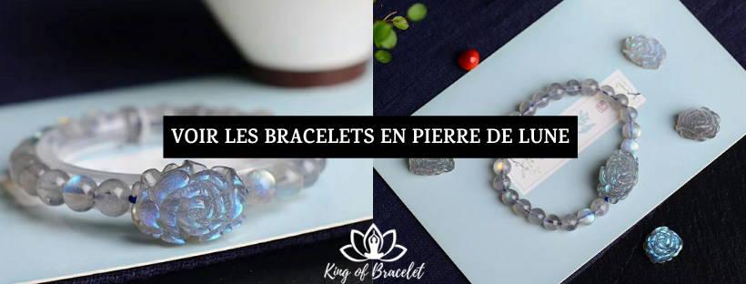 Bracelet en Pierre de Lune Grise - King of Bracelet