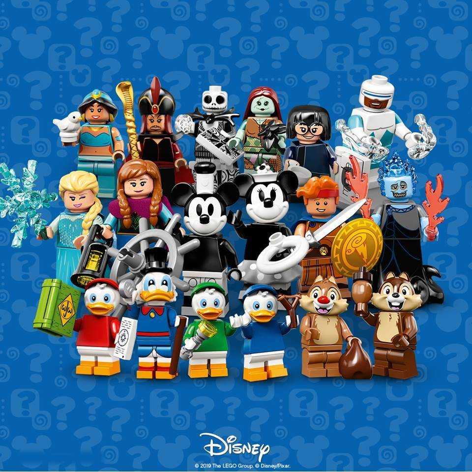LEGO Disney cartoon characters