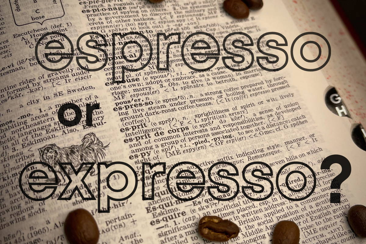 """Dictionary excerpt with """"espresso"""" definition"""