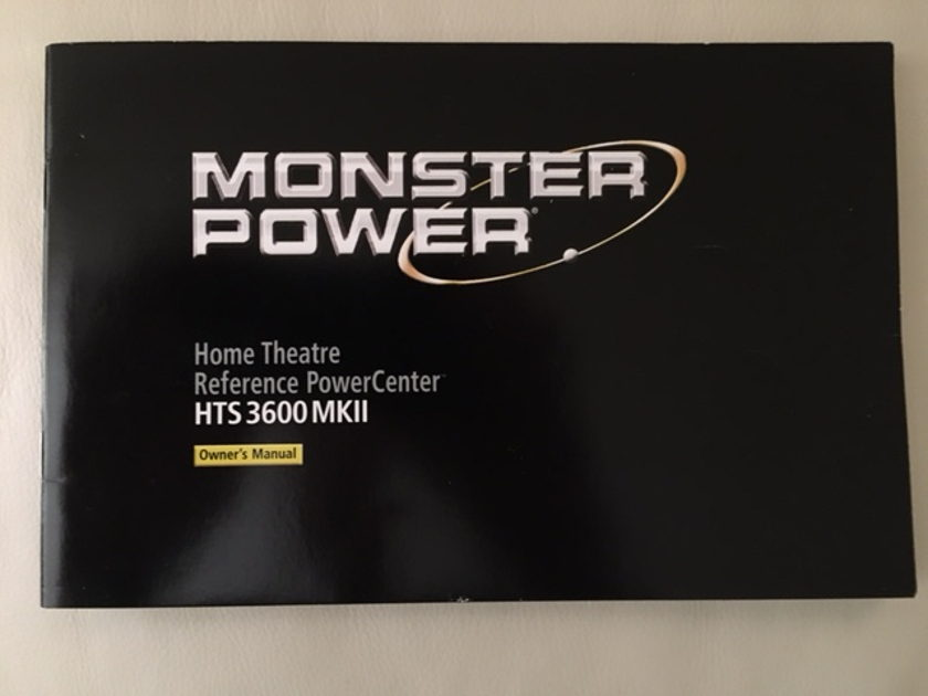 Monster Power HTS 3600 MKII In excellent condition; original owner; no marks on unit