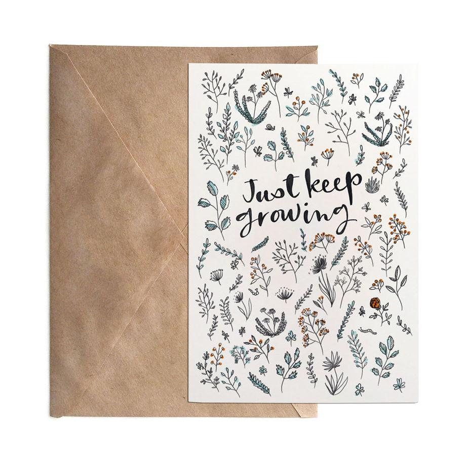 Открытка «Just keep growing», 10х15