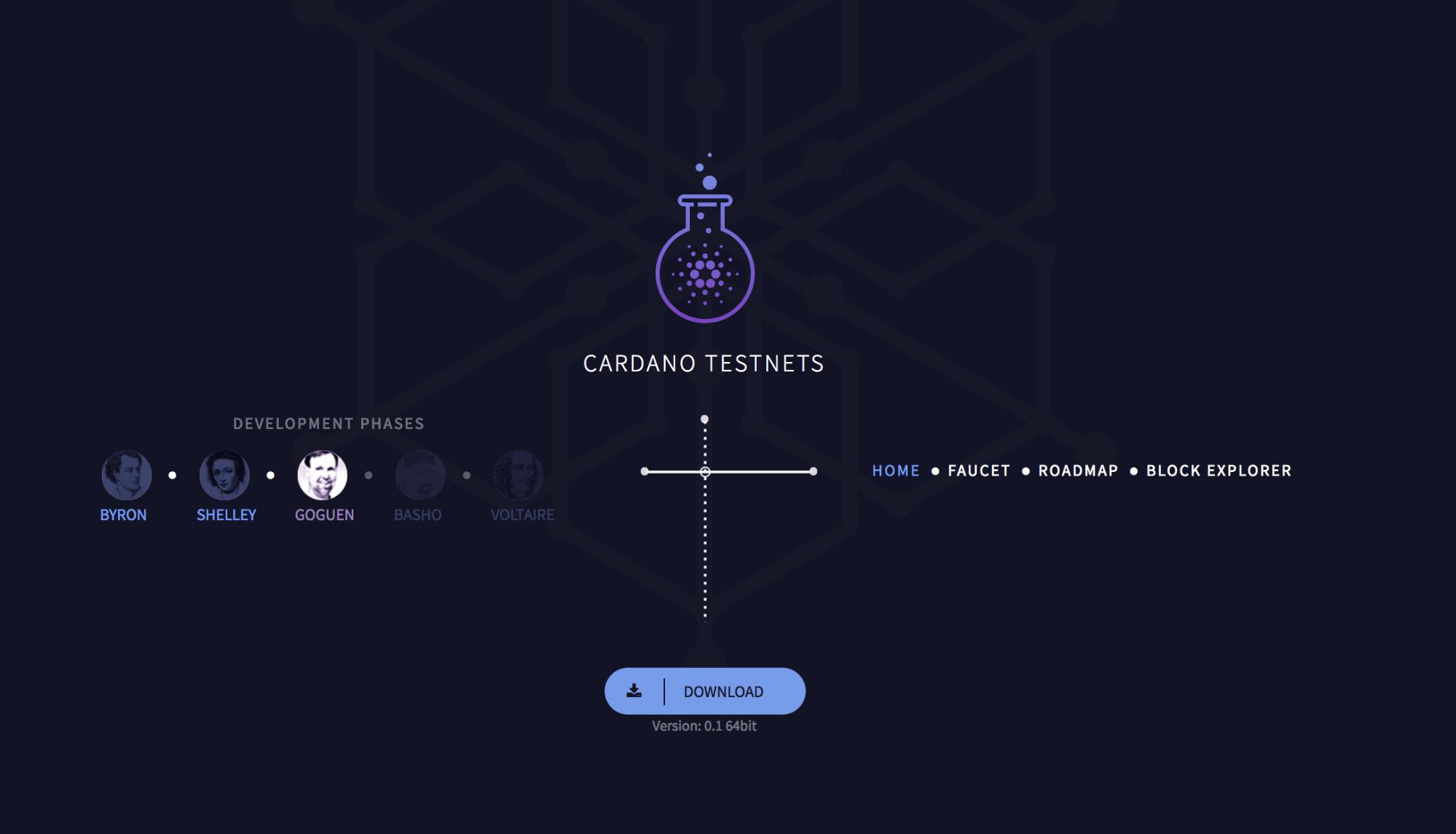 Cardano Testnets website