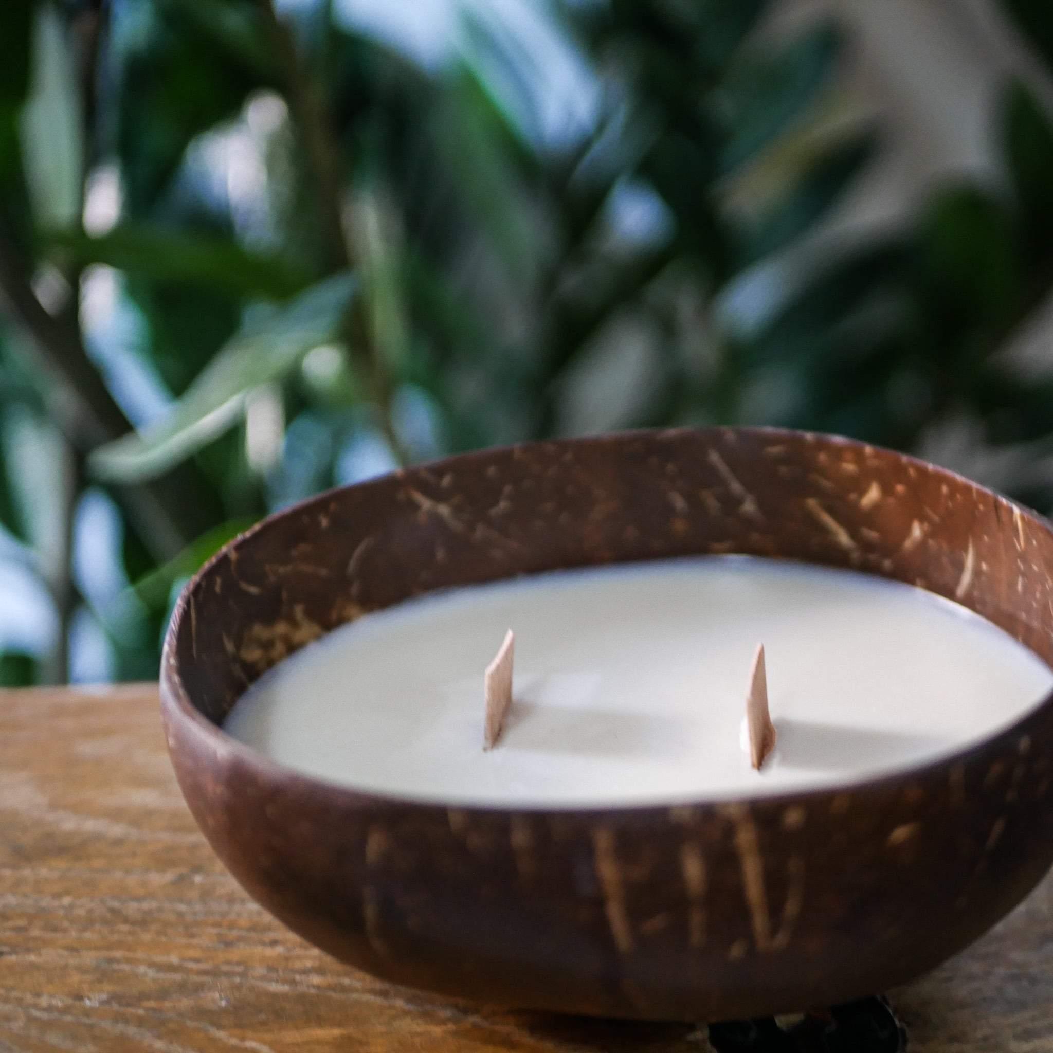 Bougie artisanale noix de coco